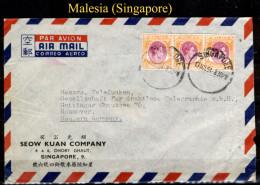 Malesia-SP0009 (Busta, Via Aerea, Da Singapore A Hannover). - Fédération De Malaya