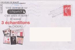 Griffe 4 Lignes Paris Louvre PDC21 Service Poste Réponses 52 Rue Du Louvre 75028 PARIS CEDEX - Handstempels