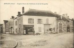A - 16 - 441 - BORAN SUR OISE - Angles Rue Du Chateau Et De La Serpette - MACHON éd. - CHARCUTERIE CANDELET - Boran-sur-Oise