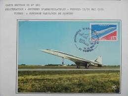 CARTE MAXIMUM CARD CONCORDE OSI  15 ET 16 MAI 1976 VERFEIL - Concorde