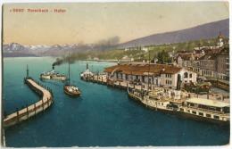 RORSCHACH Hafen Mit Dampfer Farblitho   Um 1907 - ZH Zürich