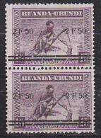 "Ruanda-Urundi 1941 ""Meulemans"" Opdruk 2,50 On 1,50 (pair) ** Mnh (27175A) Signed On Backside - 1924-44: Ongebruikt"