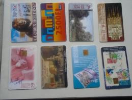 Old Phonecards  HUNGARY  - 8 Pcs - D137311 - Hongrie
