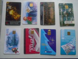 Old Phonecards  HUNGARY  - 8  Pcs - D137313 - Hongrie