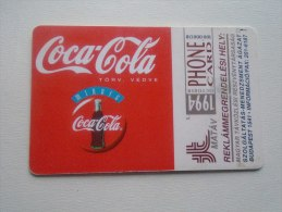 Phonecard  Hungary   1994 Coca-Cola   - D137316 - Hongrie