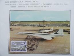 CARTE MAXIMUM CARD CONCORDE 12 ET 13 JUIN 1976 VANDOEUVRE - Concorde
