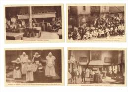 21 - BEAUNE - Cote D´Or - Lot 4 Cpa - Hospices Cuisine Fillettes Petites Religieuses Salle St Nicolas Procession RONCO - Beaune