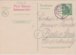 ALLEMAGNE   1957 CARTE DE SCHÖNWALD - Covers & Documents