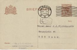 Bk G191 Utrecht - Den Haag - Ganzsachen