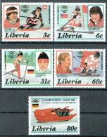 Liberia 1987 Olympische Spiele Calgary Michel N° 1356-1359 Und Block 112 MNH - Liberia