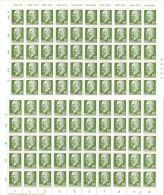 9.12.1964, Staatsratvorsitzender Walter Ulbricht, 60 Pf - Kompletter Bogen  Mi-Nr. 1080, Los 44613 - [6] Democratic Republic