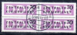 "1.10.1956, Zentraler Kurierdienst, ZKD, Michel Nr. 9X, 4er Block Gestempelt ""ungültig 31.12.1957"" Los 44481 - Service"