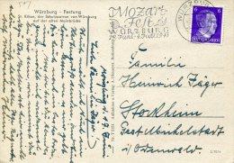 5158 Germany Reich ,special Postmark 1943 Wurzburg On Circuled Card, Amadeus Mozart Fest,  Very Scarce !! - Musik