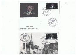 CARTE  + ENVELOPPE 1er JOUR  JOURNEE DU TIMBRE LE CATEAU (NORD)  08 03 1980 - FDC