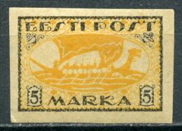 Estland Estonia Estonie Stamp 1920 Viking Ship Mi 13 MH - Estonia