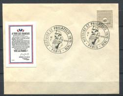 152 - Env Vive La France 1940 Gl De Gaulle - Obliteraion 1970 Sur Tb 40 Arc De Triomphe - Other