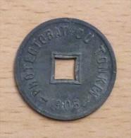 TONKIN 1/600 DE PIASTRE 1905 - Colonias