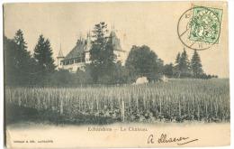 Echandens Le Château 1902 Beau Cachet NYON Vers Le Portugal - VD Vaud