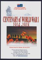 "2014 PITCAIRN ISLANDS ""CENTENARIO PRIMA GUERRA MONDIALE / CENTENARY OF WORLD WAR I"" BULLETIN - Francobolli"