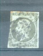 SECOND EMPIRE - NAPOLEON III - TYPE II YVERT NR. 11a OBLITERE BRONZE - 1853-1860 Napoléon III