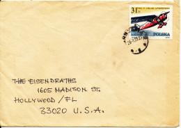 Poland Cover Sent To USA 29-1-1983 Single Franked Aeroplane - 1944-.... Republic