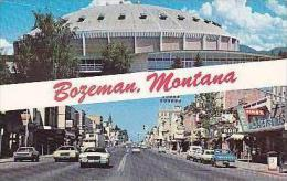 Montana Bozeman Upper Field House Montana State University Lower A Glimpse Of Downtown - Bozeman