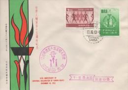 842  Droits De L´Homme - Menschenrechte - Human Rights -   1963  FDC  TTB - 1945-... République De Chine