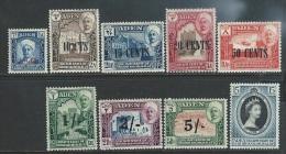 Aden / Quaiti State  1951-3  Sc#20-8    Set Of 8 & Coronation  MLH*   2016 Scott Value $33.05 - Aden (1854-1963)