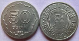 Azerbaijan- Aserbaidschan 50 Qapik 1992 (copper-nikel) RAR  UNC  KM#4