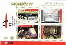 Lupa 1126. Hojita Barnafil 1999. 75 Años Metro De Barcelona, Viñeta, Label - Errors & Oddities