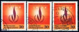 A10-44-1) BRD - 3x Michel 575 - OO Gestempelt (B) - Jahr Der Menschenrechte - [7] République Fédérale