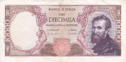 BILLETE DE ITALIA DE 10000 LIRAS DEL AÑO 1970 DE MICHELANGELO (BANKNOTE) - [ 2] 1946-… : República