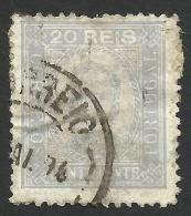 Portugal, 20 R. 1892, Sc # 70, Mi # 69yB, Used. - 1892-1898 : D.Carlos I