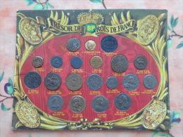 Trésor Des Rois De France.Plateau Complet Avec Ses 20 Reproductions De Monnaies Offert Par Les Stations Service BP - France