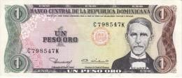 BILLETE DE LA REPUBLICA DOMINICANA DE 1 PESO ORO DEL AÑO 1980  (BANKNOTE) - República Dominicana