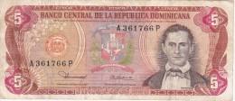 BILLETE DE LA REPUBLICA DOMINICANA DE 5 PESOS ORO DEL AÑO 1980  (BANKNOTE) - República Dominicana