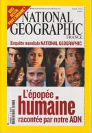 REVUE NATIONAL GEOGRAPHIC FR N° 78  L'épopée Humaine - Géographie