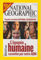 REVUE NATIONAL GEOGRAPHIC FR N° 78  L'épopée Humaine - Geographie