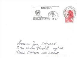 CORMEILLES EN PARISIS_Flamme PHOTO_ 200° Ann. Naissance De DAGUERRE_1987_sur Lettre - Postmark Collection (Covers)