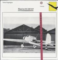 Vliegtuigen.- Hanriot H-110/115 - Jachtvliegtuigen. -  Frankrijk - Vliegtuigen