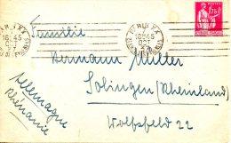 FRANCE. N°289 Sur Enveloppe Ayant Circulé En 1937. - 1932-39 Peace