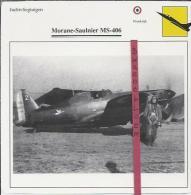 Vliegtuigen.- Morane-Saulnier MS-406 - Jachtvliegtuigen. -  Frankrijk - Vliegtuigen