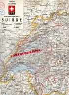 SUISSE - DEPLIANT TOURISTIQUE - CARTE POSTES ALPESTRES- PTT- ANNEES 40 - Dépliants Touristiques