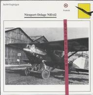 Vliegtuigen.- Nieuport-Delage NiD.62 - Jachtvliegtuigen. -  Frankrijk - Vliegtuigen