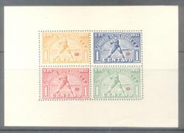 NICARAGUA  AÑO 1937 BLOC YVERT NR. 21 FEUILLET NON GOMME SELLO OLIMPICO OLIMPIADAS OLYMPICS RARO BLOQUE