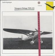 Vliegtuigen.- Nieuport-Delage NiD.122 - Jachtvliegtuigen. -  Frankrijk - Vliegtuigen