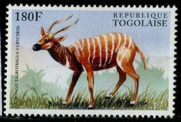 (cl.12 - P.50) Togo ** N° 1428 (ref. Michel Au Dos) - Antilope Bongo - - Briefmarken