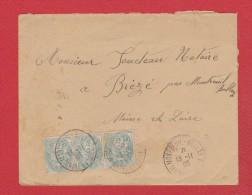 Env De Montreuil-Bellay  -- Pour Brézé    --  13/11/1905 - 1877-1920: Période Semi Moderne