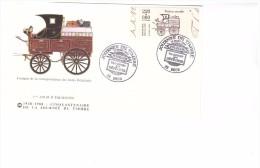 Enveloppe Premier Jour Poste PTT Facteur Fourgon Correspondance Indes Orientales Journée Timbre Transport Depeches 1988 - Post