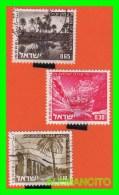 ISRAEL  SELLOS DE DIFERENTES VALORES  AÑO  1989 - Israel